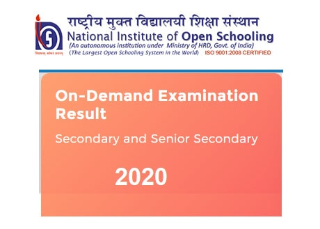 NIOS On Demand Exam Result 2020